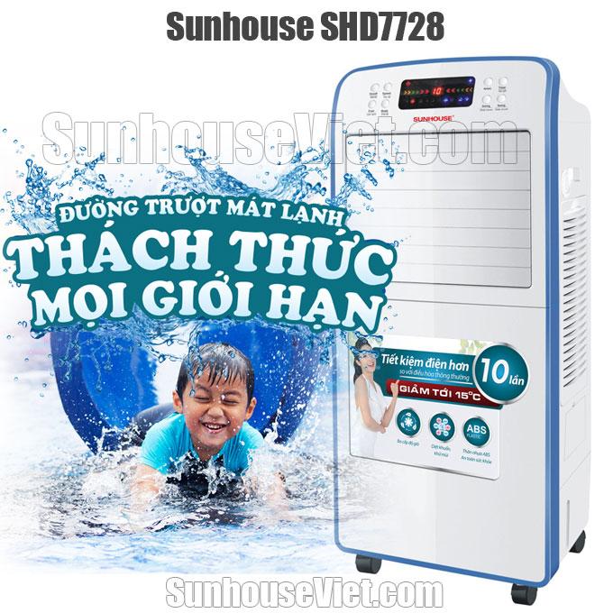 quat dieu hoa sunhouse shd7728 mat hoi nuoc giam nhiet nong