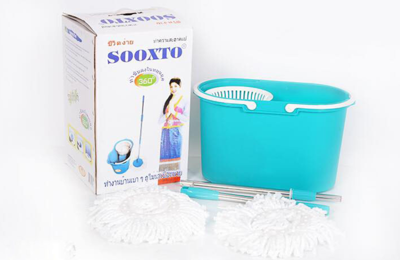 Cây lau nhà xoay 360 độ sooxto F1 Thái Lan sử dụng nhựa nguyên chất an toàn và thân thiện với sức khỏe