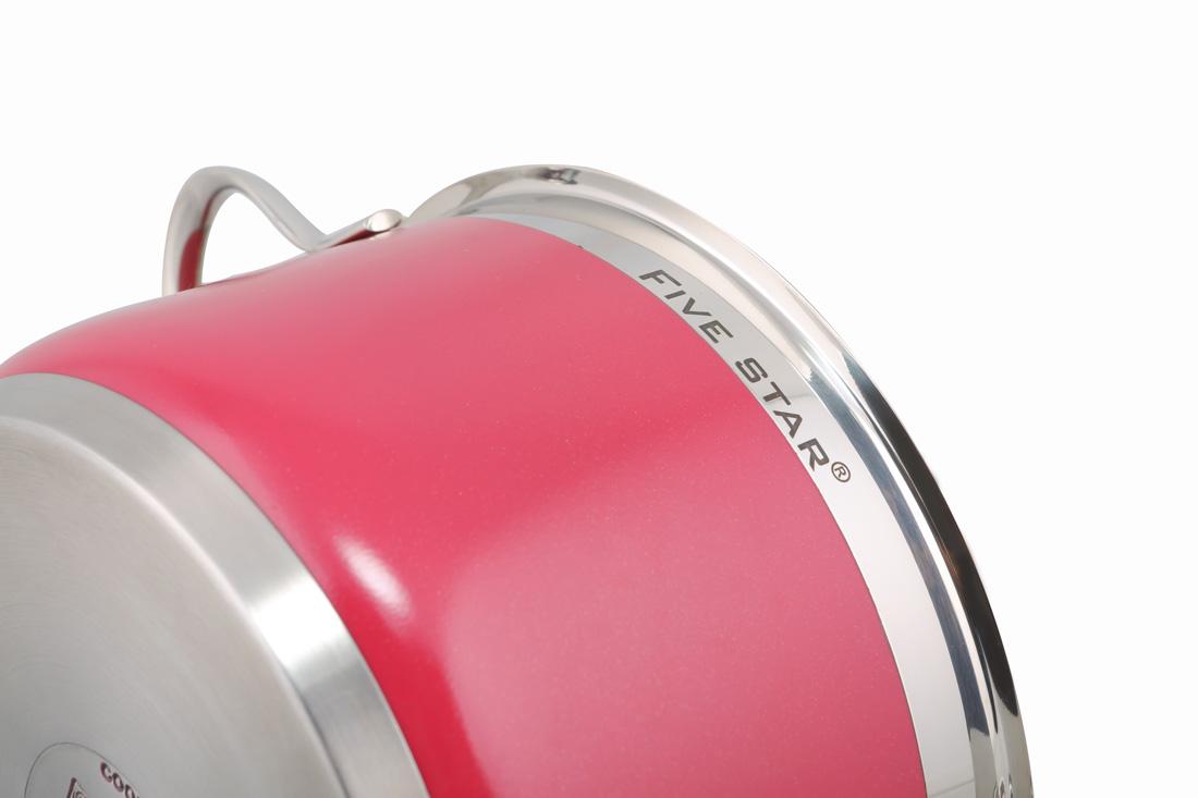 Bộ nồi FiveStar màu 4 chiếc màu hồng