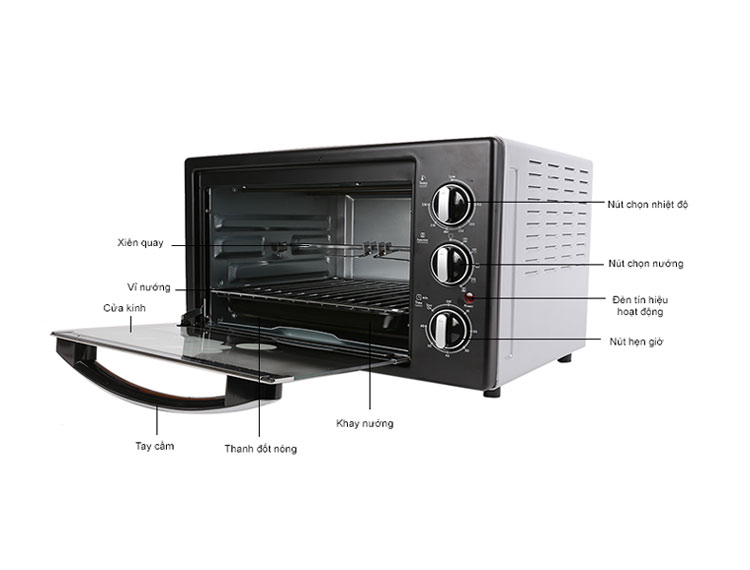 Lò nướng điện BlueStone EOB 7589S chất lượng cao, dung tích 42L, công suất 2000W, có 5 chế độ nướng với nhiều chức năng nướng khác nhau.