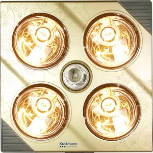 Đèn sưởi nhà tắm Kottmann K4B-G 4 bóng mạ vàng giảm chói