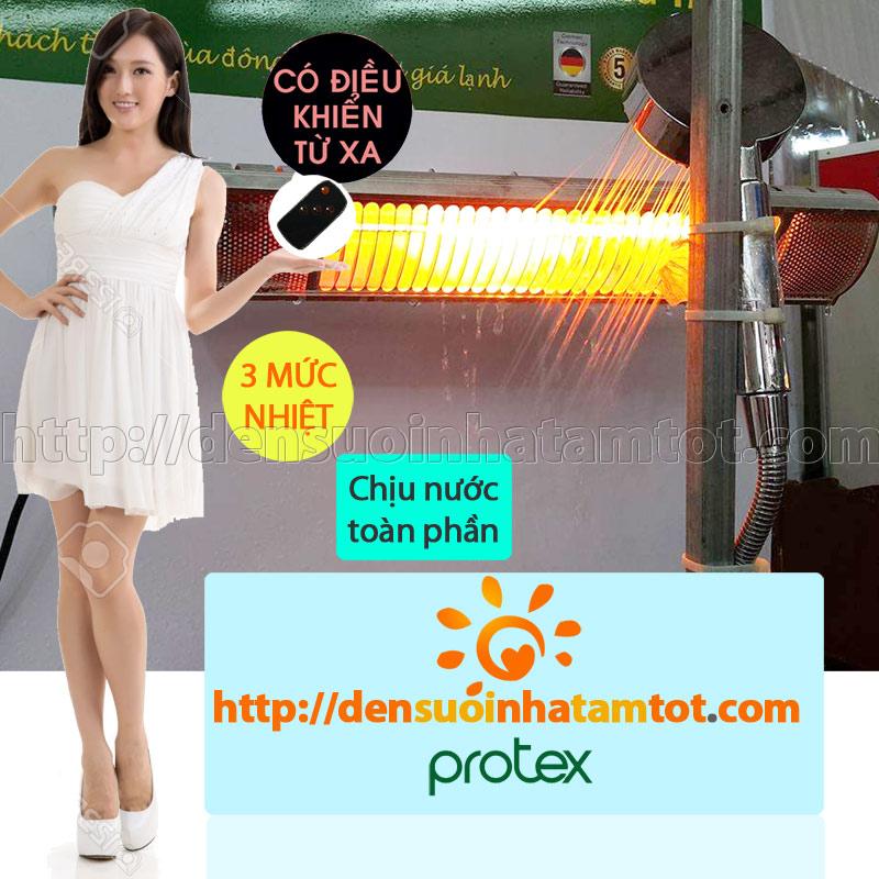 Đèn sưởi nhà tắm Protex PR001D sử dụng được trong môi trường nước