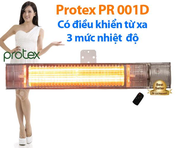 Đèn sưởi nhà tắm Protex PR001D không chói mắt