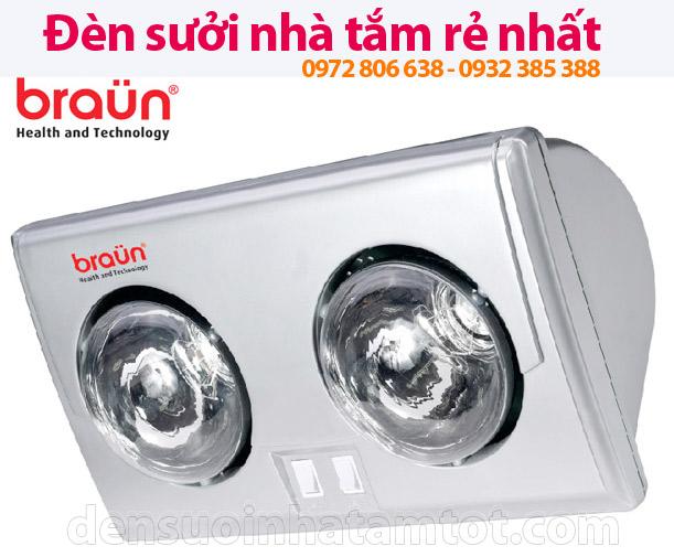 Đèn sưởi nhà tắm Braun BU02Đèn sưởi nhà tắm Braun BU02