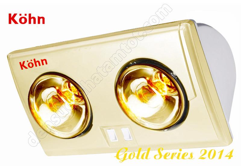 Đèn sưởi nhà tắm Braun BU02G 2 bóng vàng giảm chói