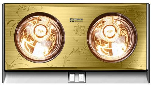 Đèn sưởi nhà tắm Kottmann K2B-G 2 bóng vàng