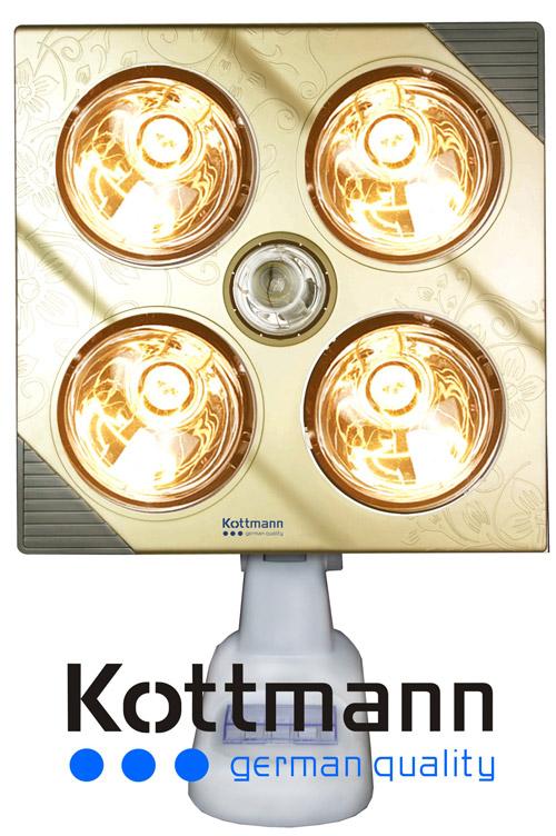 Đèn sưởi nhà tắm Kottmann K4B-GĐèn sưởi nhà tắm Kottmann K4B-G