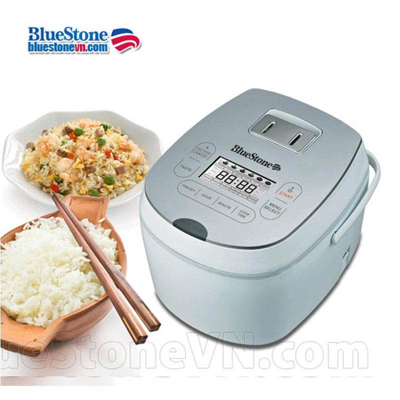 Nồi cơm điện tử BlueStone RCB 5985S chất lượng cao, kiểu dáng thiết kế nhỏ gọn,tinh tế, sang trọng, lòng nồi dày phủ chống dính caoo cấp Ceramic an toàn.