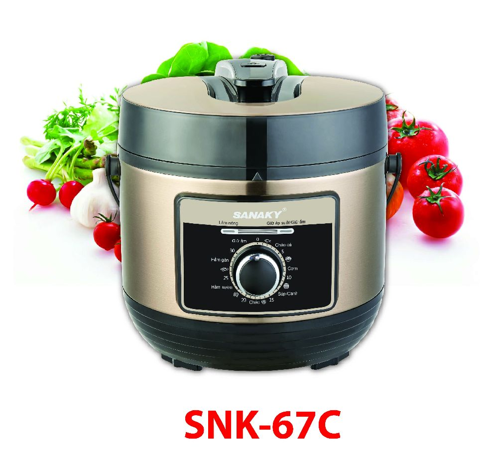 Nồi áp suất điện đa năng Sanaky SNK-67C