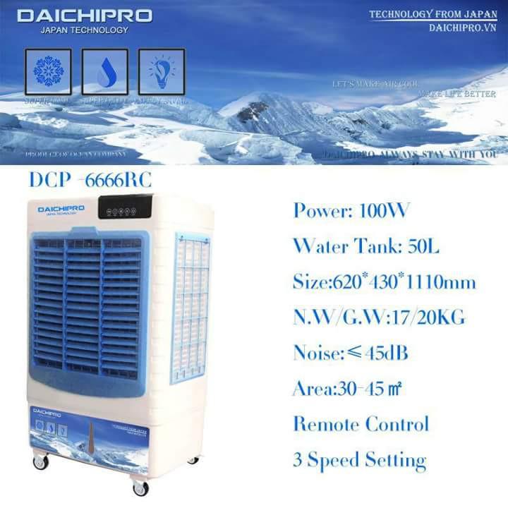 Máy làm mát hơi nước Daichipro DCP-6666RC