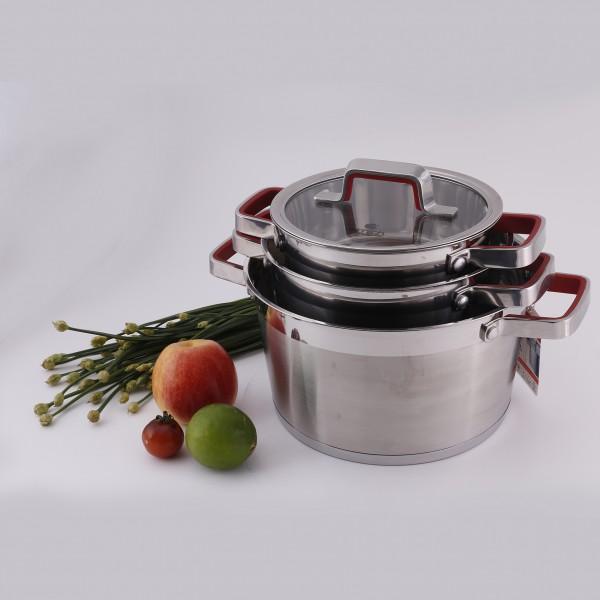 Bộ nồi Elmich inox 304 Tupelo 5 đáy nấu được trên mọi bếp