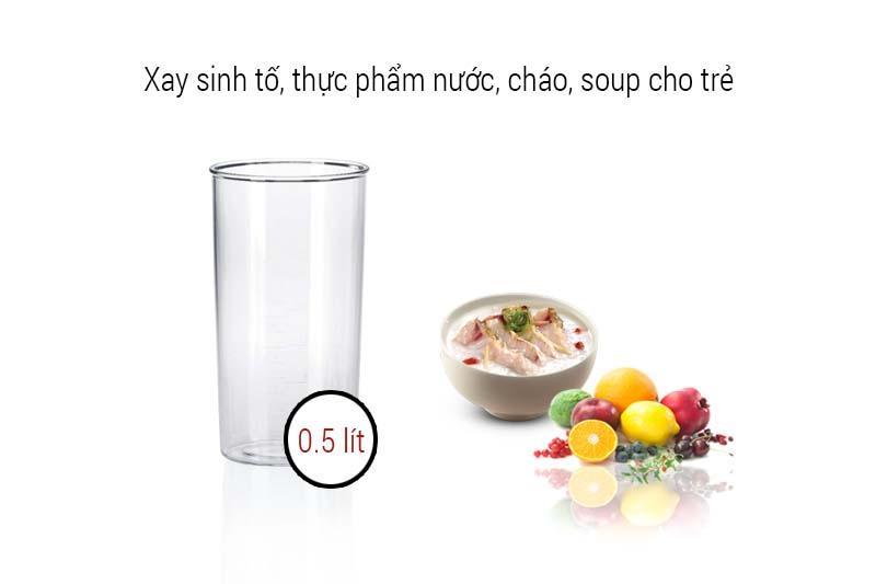 cốc xay bằng chất liệu nhựa cao cấp