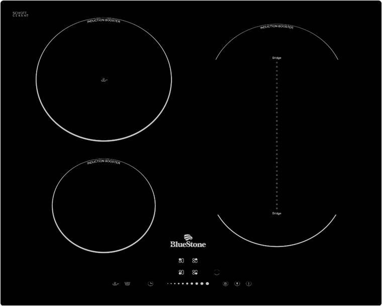 Bếp ba từ BlueStone ICB-6845 phím điều khiển cảm ứng, mặt kính SchottCeran chịu lực cao cấp