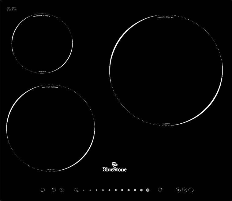 Bếp ba từ BlueStone ICB-6868 phím điều khiển cảm ứng, mặt kính SchottCeran chịu lực chất lượng