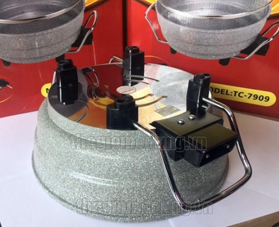 Nồi lẩu điện đa năng Holtashi TC-7909 có thiết kế an toàn, chống thấm nước