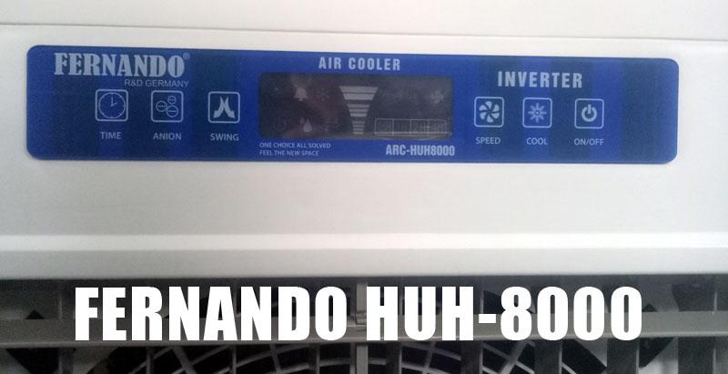 Bảng hiện thị thông số của quạt hơi nước Fernando HUH8000