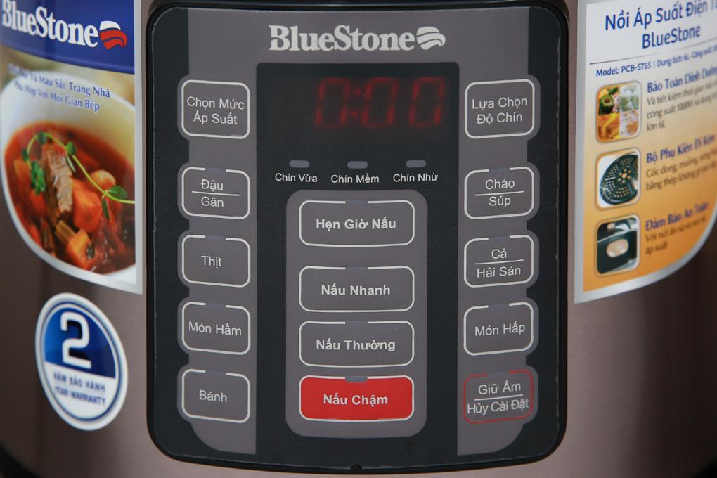 Nồi áp suất điện BlueStone PCB-5755 cấu tạo kèm vỉ hấp tiện dụng