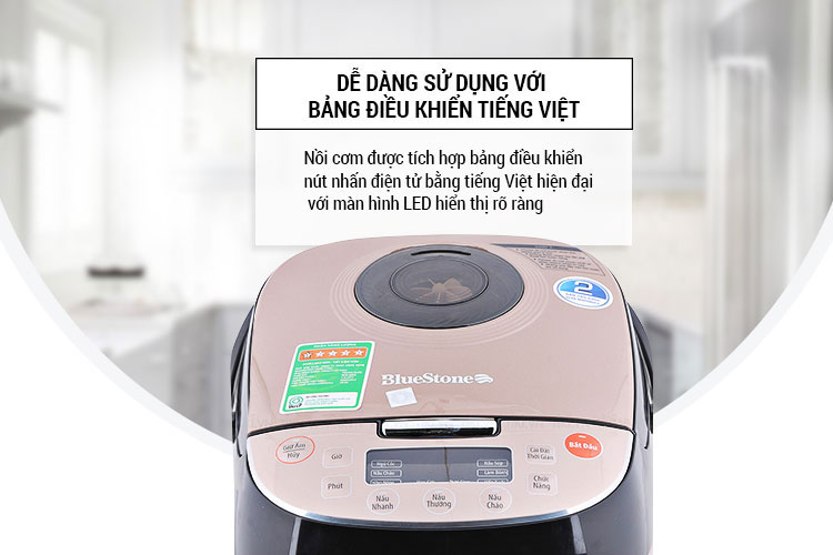 Nồi cơm điện BlueStone RCB-5939 bàng điều khiển điện từ bằng tiếng Việt