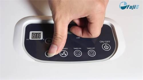 Máy hút ẩm Fujie HM-6120EB có bảng điều khiển dễ dàng sử dụng