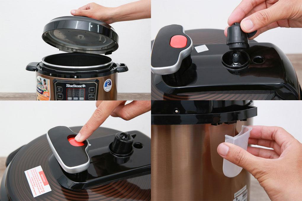 Thiết kế an toàn của nồi áp suất điện Bluestone PCB-5753