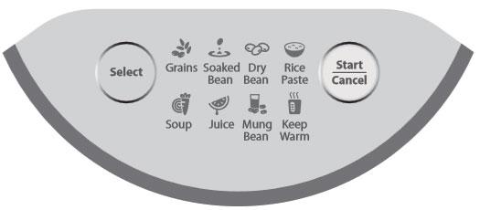 Bảng điều khiền của máy làm sữa đậu nành Bluestone SMB-7326