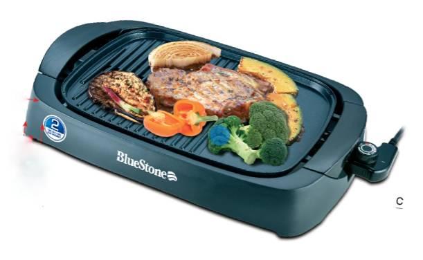 Bếp nướng điện không khói Bluestone EGB-7411 mặt bếp được phủ lớp chống dính cao cấp an toàn tuyệt đối