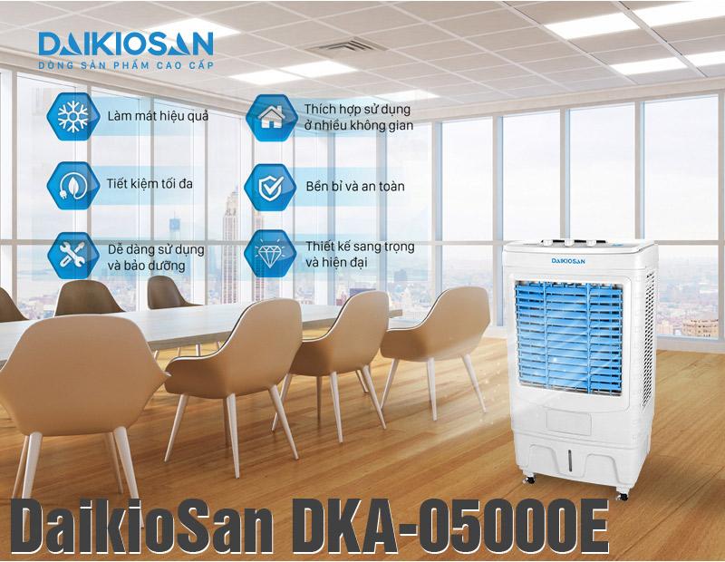 Đặc điểm của máy làm mát không khí DaikioSan DKA-05000E