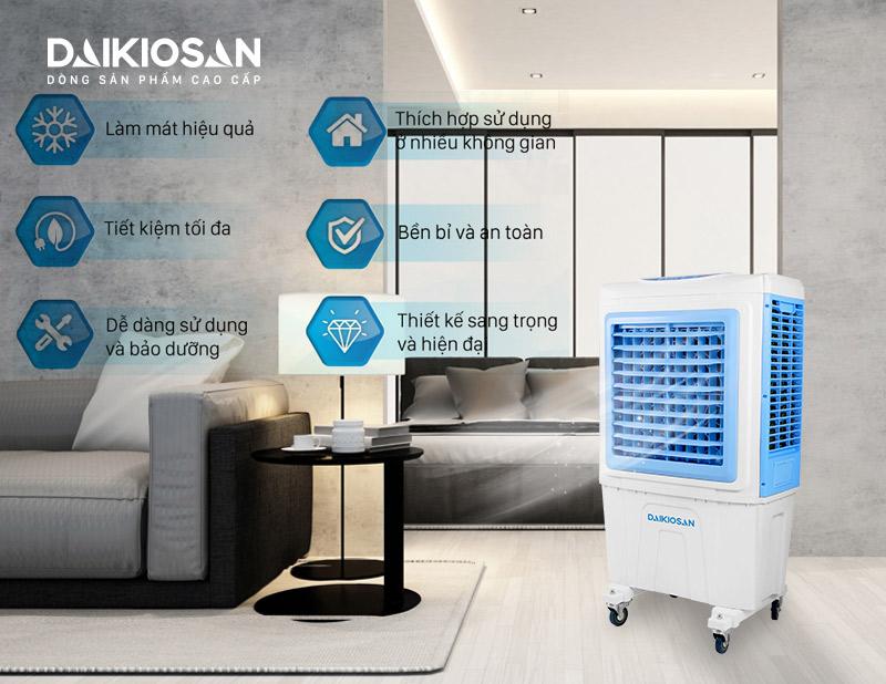 Ưu điểm của Máy làm mát không khí DaikioSan DKA-05000B
