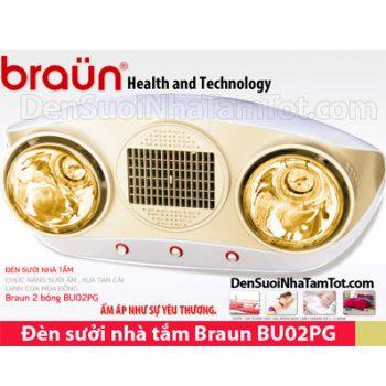 Đèn sưởi nhà tắm Braun BU02PG