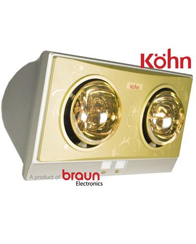 Đèn sưởi nhà tắm Braun Kohn KN02G