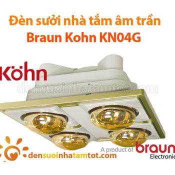 Đèn sưởi nhà tắm Braun Kohn KN - 04G âm trần 4 bóng